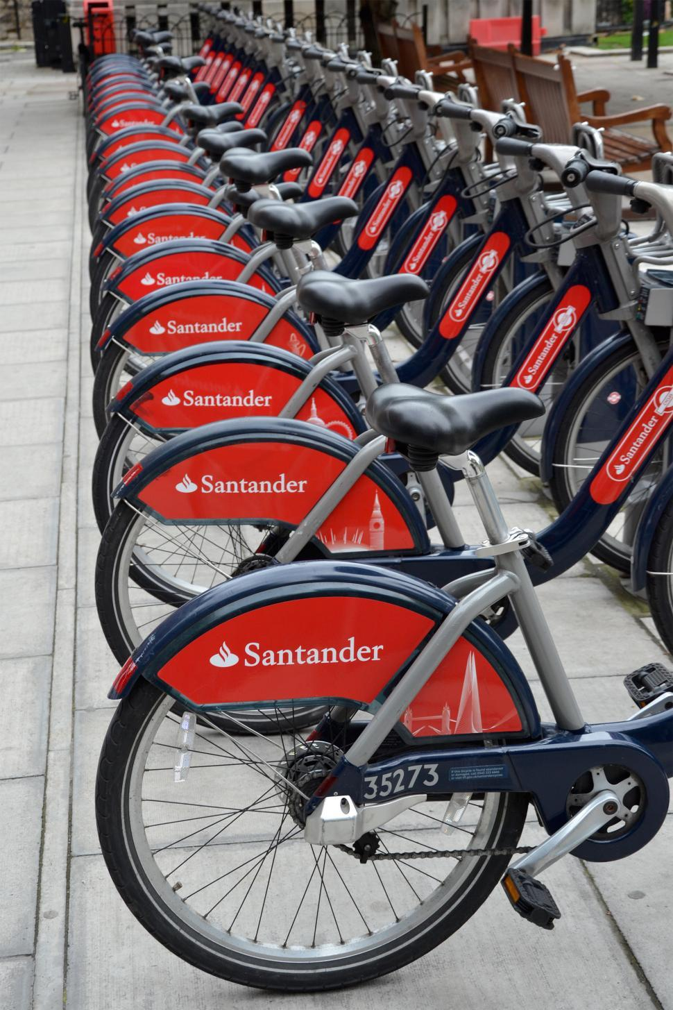 Download Free Stock Photo of Santander bikes