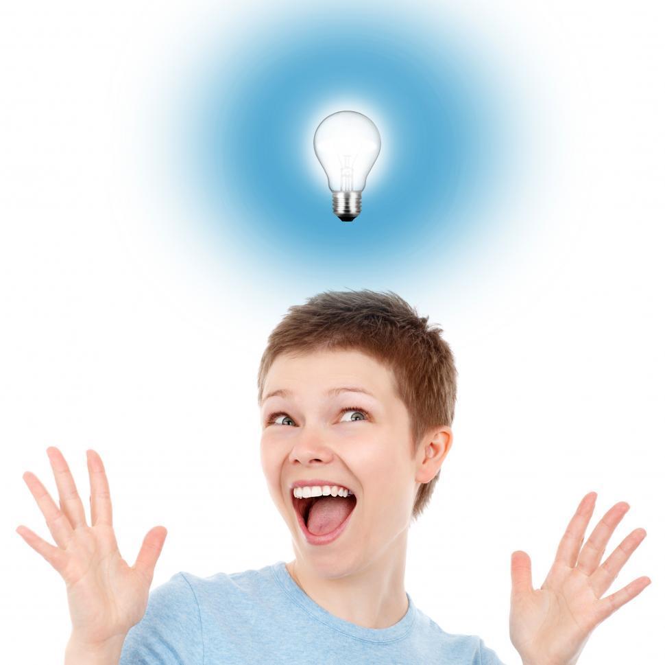 Download Free Stock HD Photo of Eureka moment - Woman having an idea Online