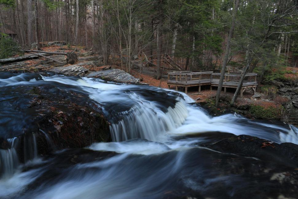 Download Free Stock Photo of Fulmer Falls at George W. Childs Recreation Site. Dingmans Ferry