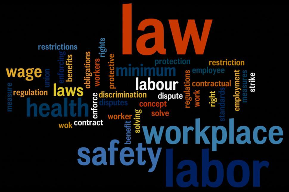 Download Free Stock HD Photo of Labor law wordcloud Online