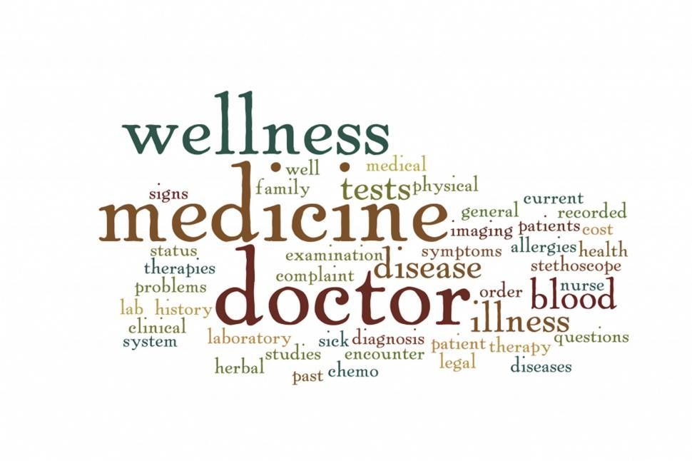 Download Free Stock Photo of Medicine Wordcloud