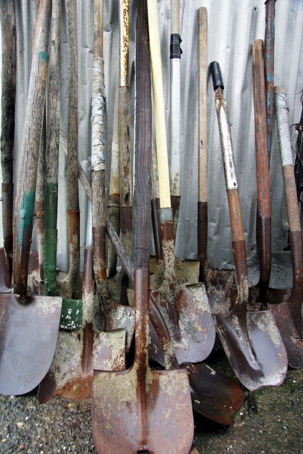 Download Free Stock Photo of Used shovels