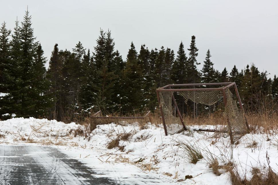 Download Free Stock HD Photo of Old Hockey Nets Online
