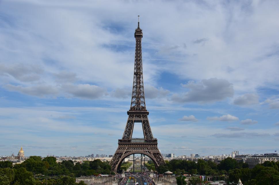 Download Free Stock Photo of Eiffel tower skyline, Paris, France