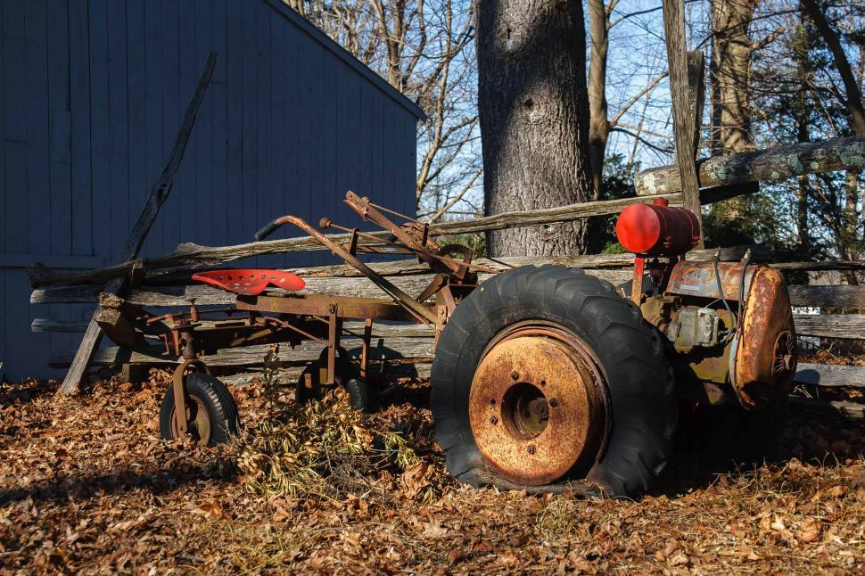 Download Free Stock Photo of Old Rusty Plow