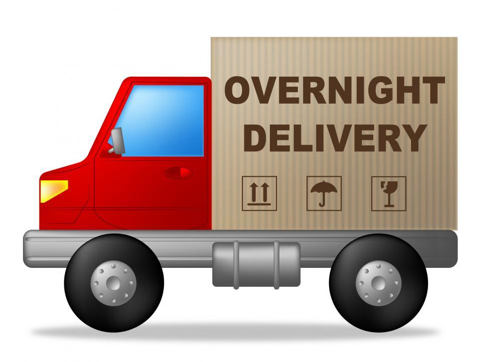 Download Free Stock Photo of Overnight Delivery Means Next Day And Express
