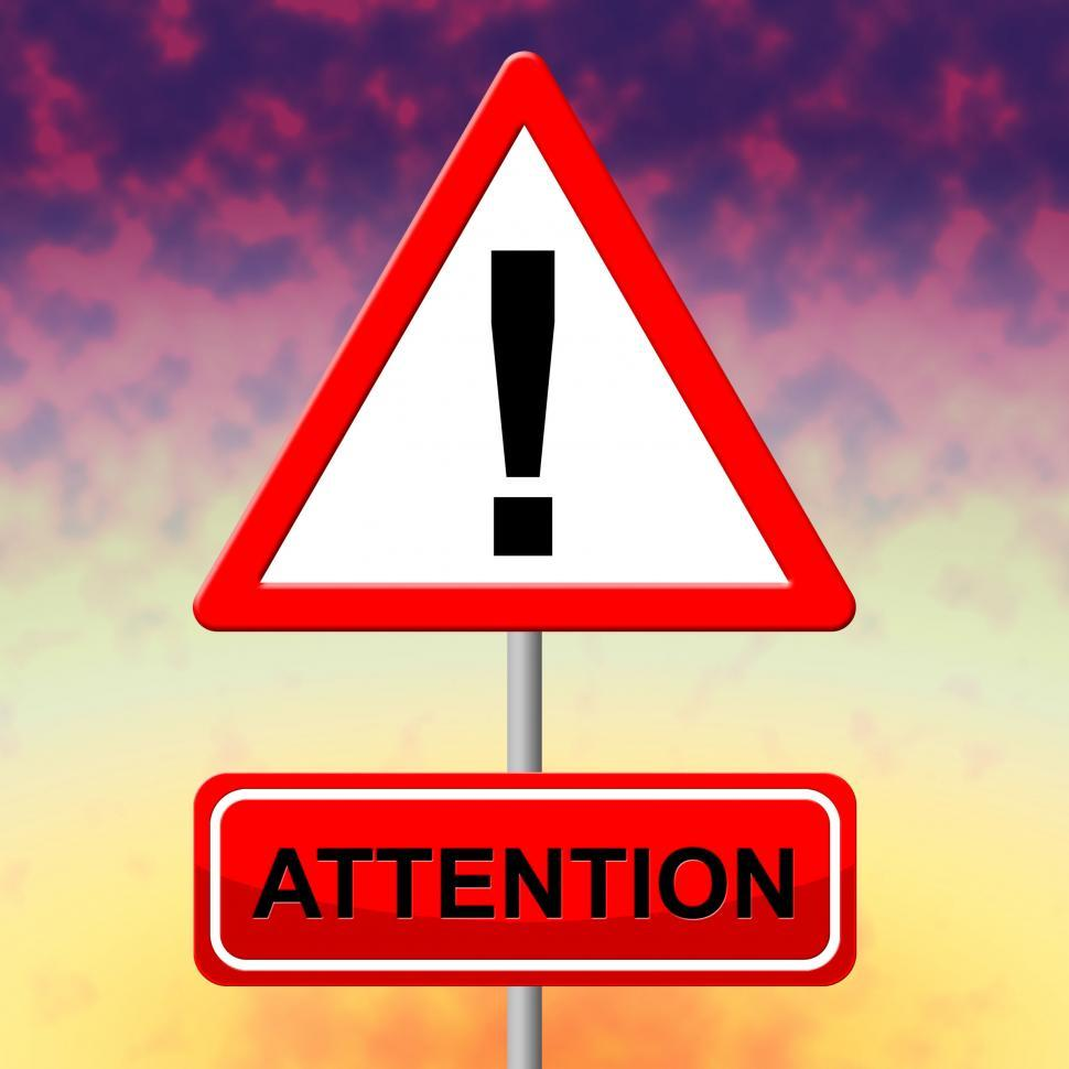 Download Free Stock HD Photo of Attention Alert Means Observation Warning And Safety Online