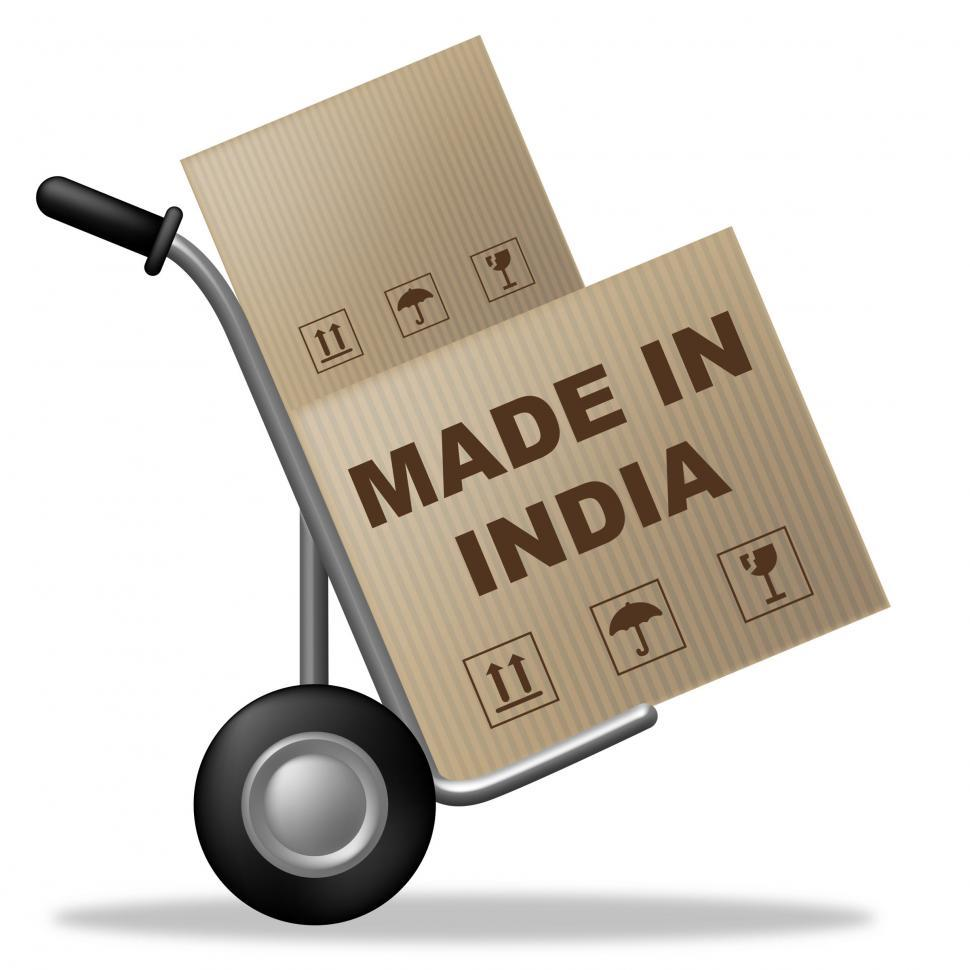 Download Free Stock Photo of Made In India Means Manufacturing Trade And Pack