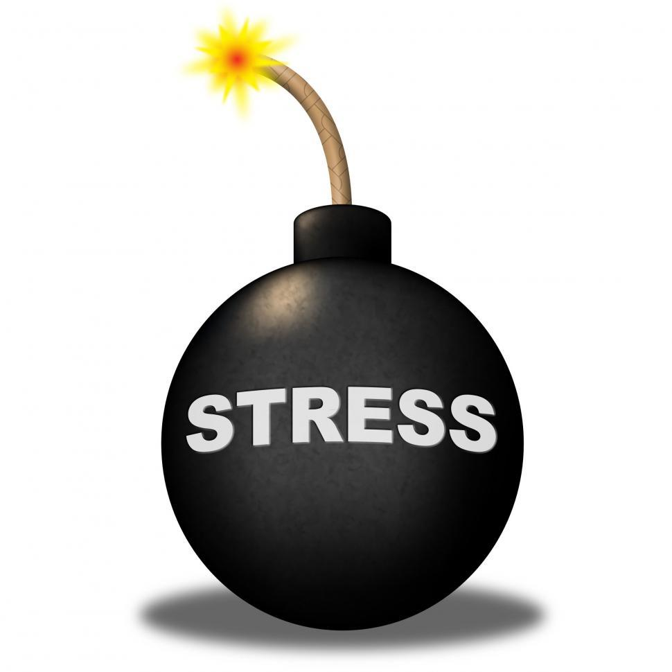 Download Free Stock Photo of Stress Alert Shows Hazard Explosive And Stressed