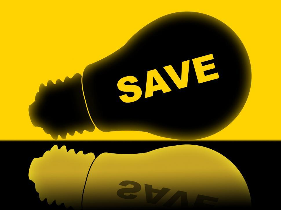 Download Free Stock Photo of Save Energy Shows Power Powered And Savings