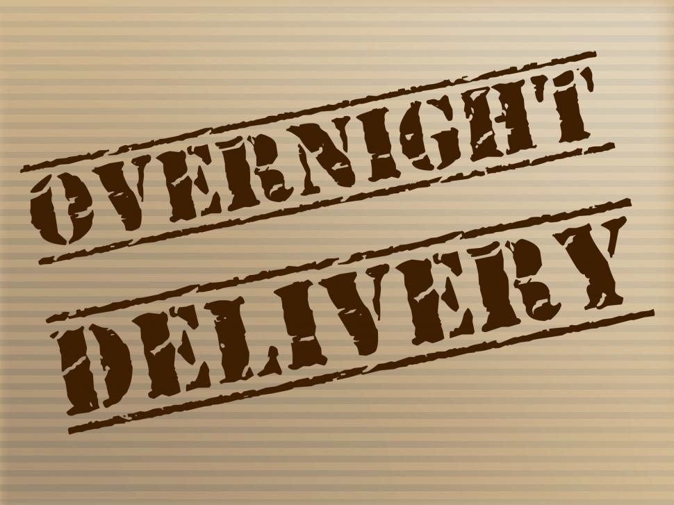 Download Free Stock Photo of Overnight Delivery Indicates Next Day And Courier