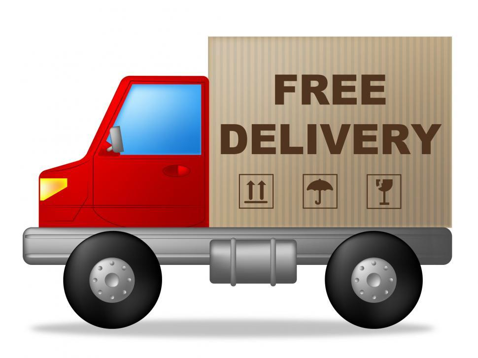 Download Free Stock Photo of Free Delivery Indicates Moving Truck And Vehicle