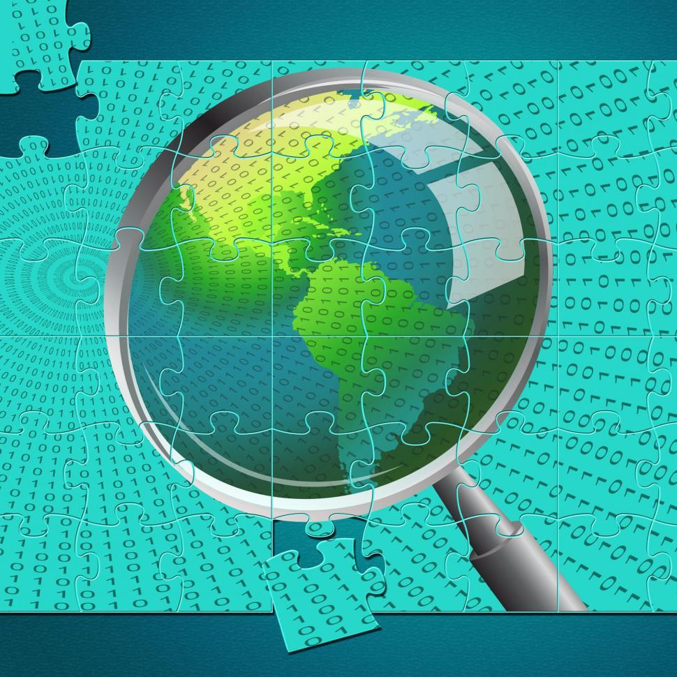 Download Free Stock Photo of Magnifying Glass Indicates Examination Investigation And Examine