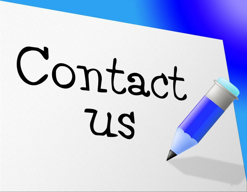 Download Free Stock HD Photo of Contact Us Means Send Message And Communicate Online