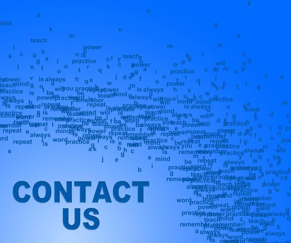 Download Free Stock HD Photo of Contact Us Indicates Send Message And Communication Online