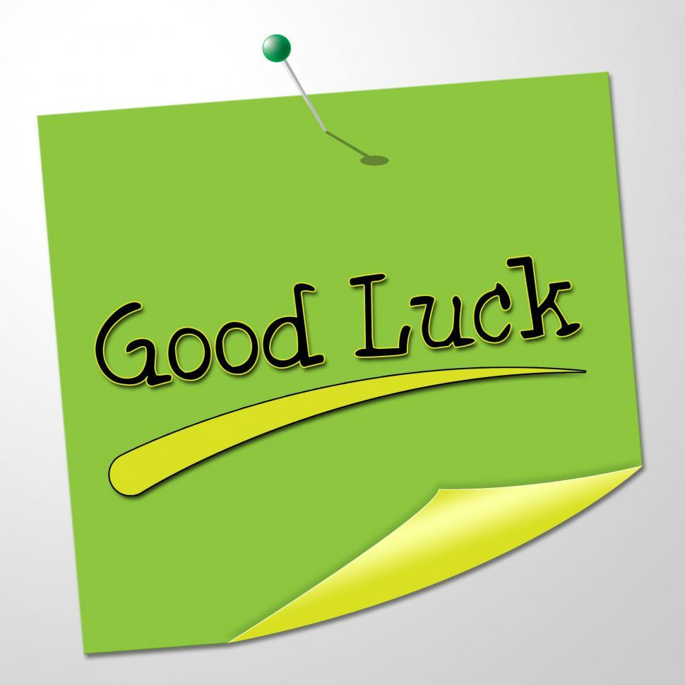 Download Free Stock HD Photo of Good Luck Indicates Lucky Fortunate And Correspondence Online