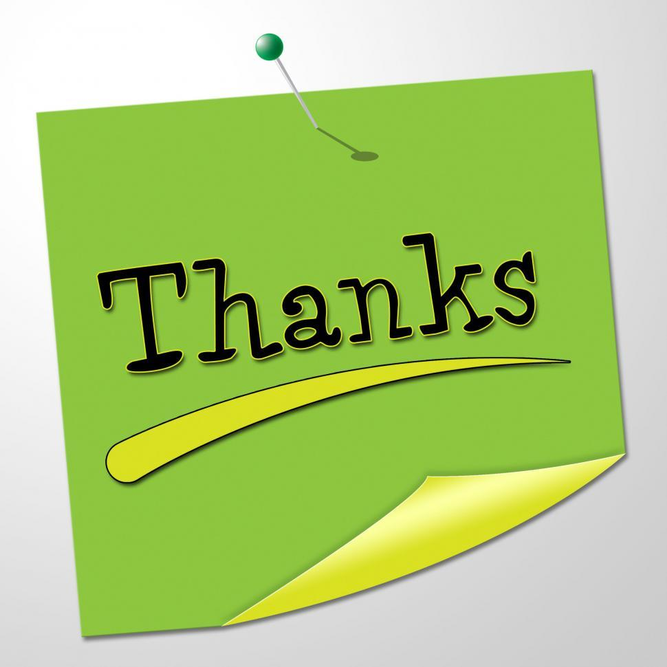 Download Free Stock HD Photo of Thanks Message Represents Thankful Appreciate And Communicate Online