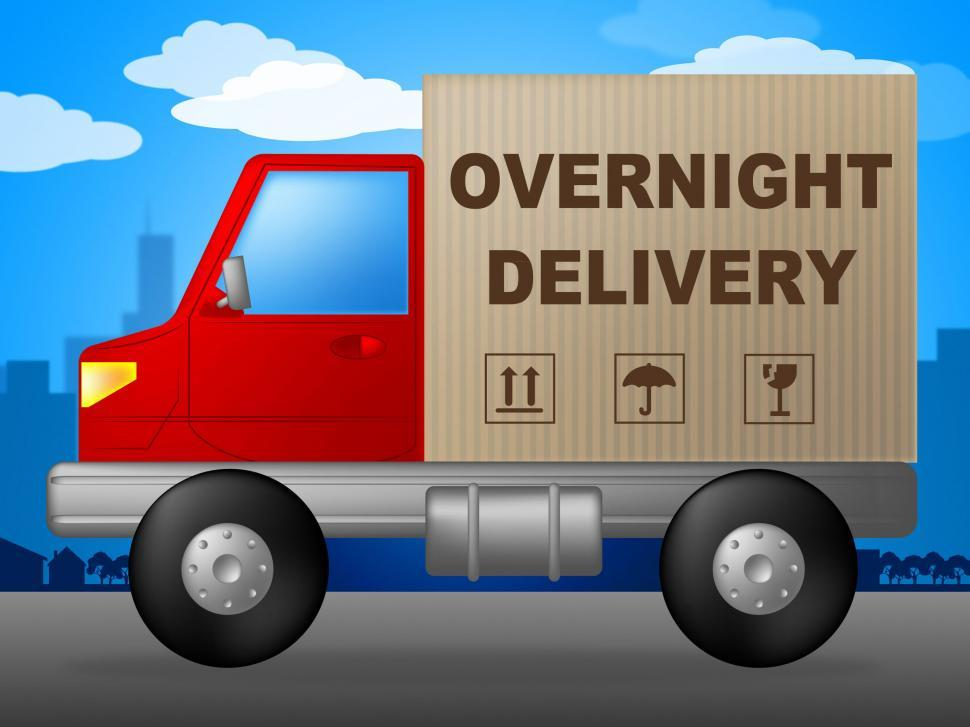 Download Free Stock Photo of Overnight Delivery Represents Next Day And Courier