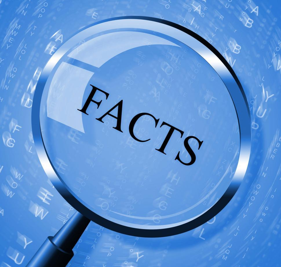 Download Free Stock Photo of Facts Magnifier Means Details Intelligence And True