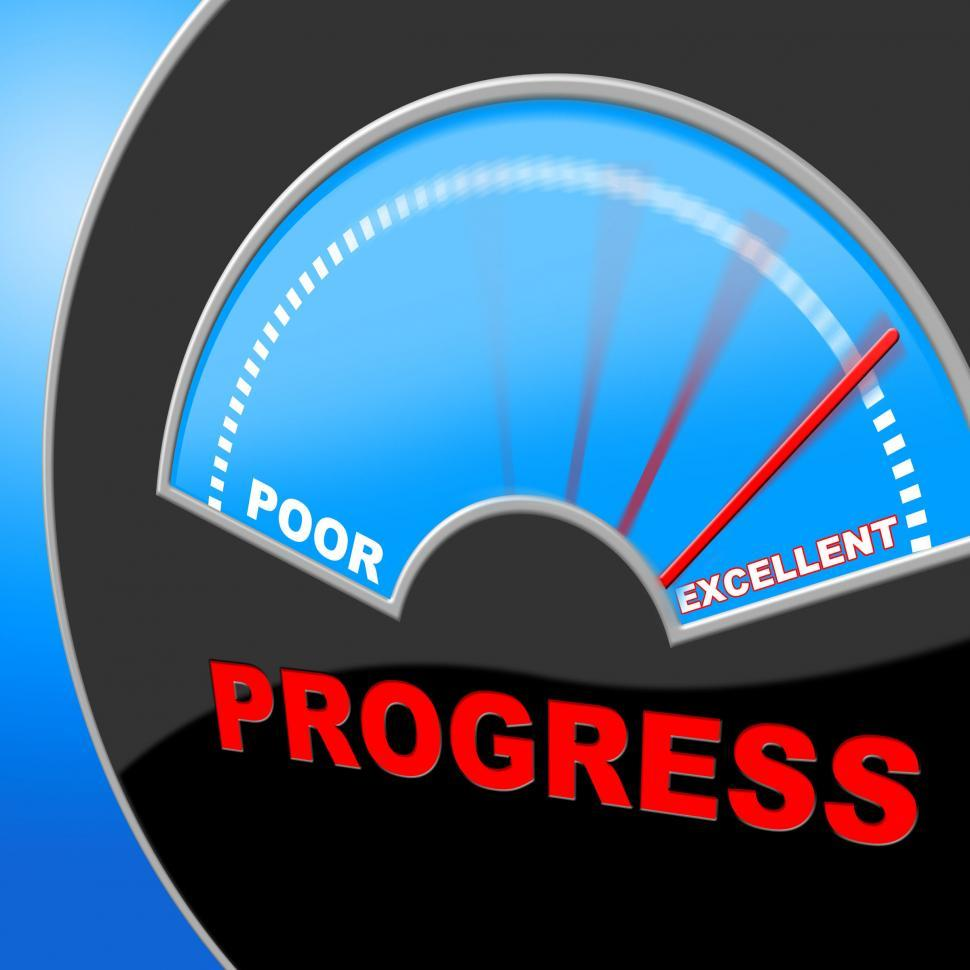 Download Free Stock HD Photo of Excellent Progress Means Growth Headway And Fineness Online