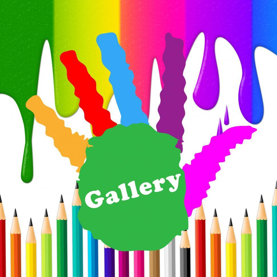 Download Free Stock Photo of Kids Gallery Shows Paint Colors And Artwork