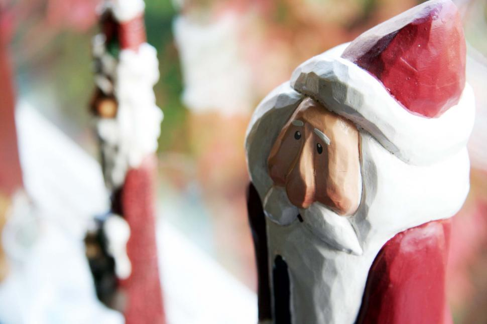 Download Free Stock HD Photo of Carved Santa Online