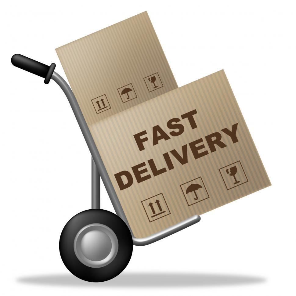 Download Free Stock Photo of Fast Delivery Means Shipping Box And Action
