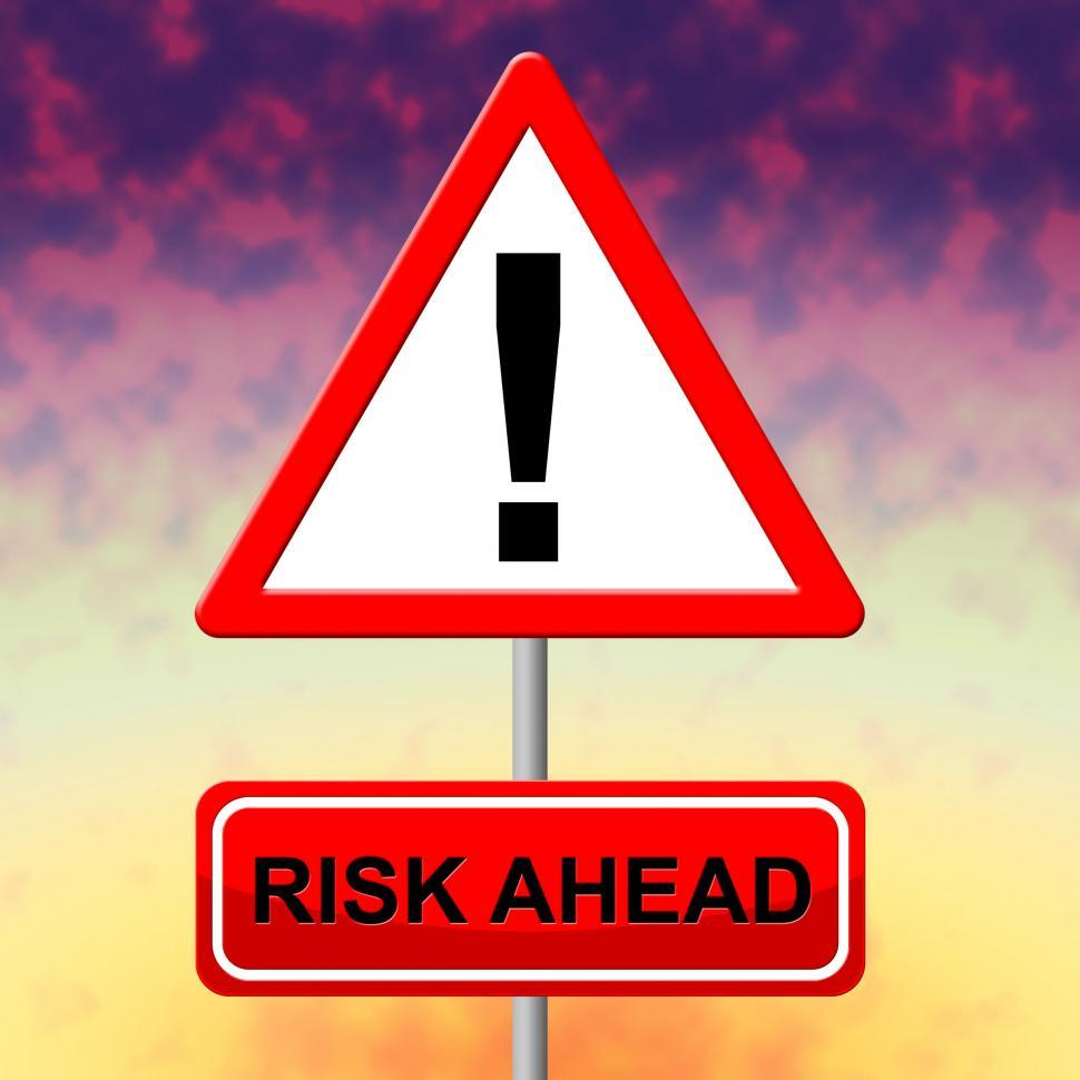 Download Free Stock HD Photo of Risk Ahead Means Dangerous Risks And Hazard Online