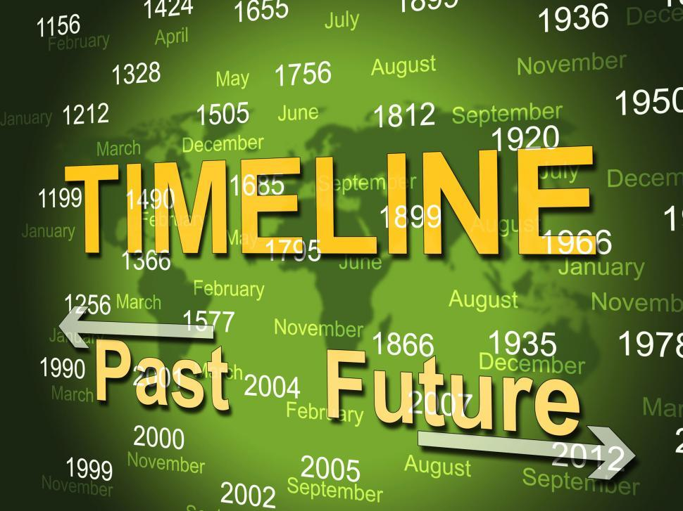 Download Free Stock Photo of Time Line Shows Long Ago And Done