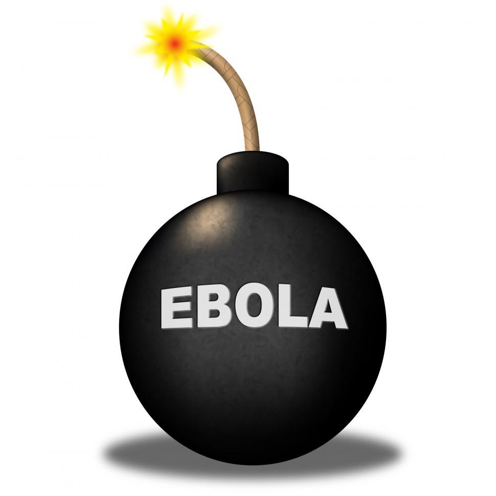 Download Free Stock Photo of Ebola Bomb Shows Infectious Infected And Epidemic