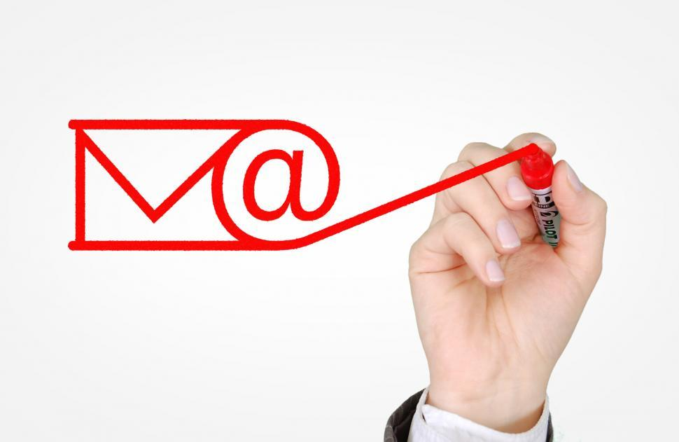 Download Free Stock Photo of Sending E-mail Concept - Email and Newsletters Campaign