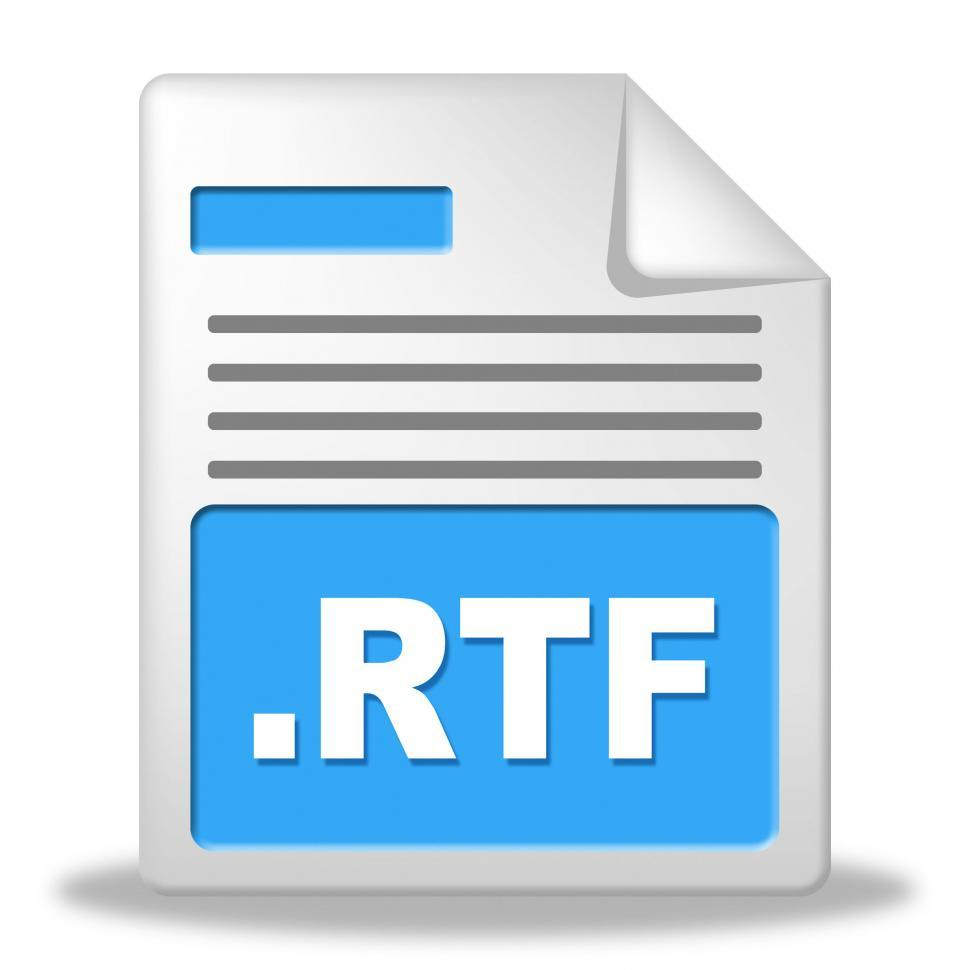 Download Free Stock HD Photo of Rtf File Indicates Organized Archiving And Correspondence Online