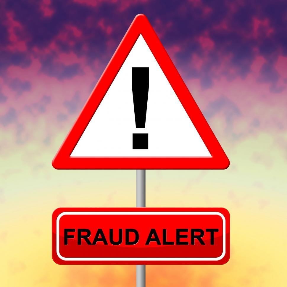 Download Free Stock HD Photo of Fraud Alert Represents Con Fraudulent And Hustle Online