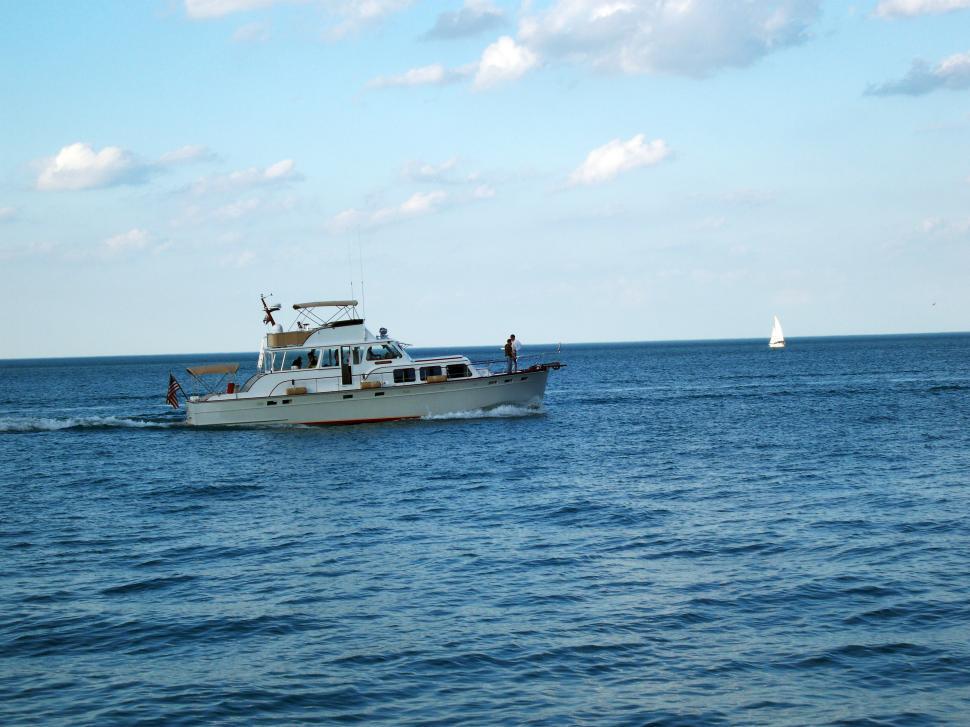 Download Free Stock Photo of Boating on Lake Michigan