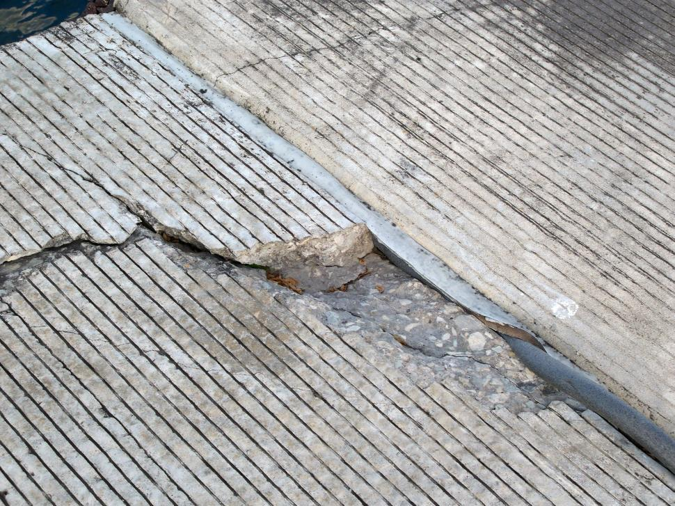 Download Free Stock Photo of Cracked Concrete Texture