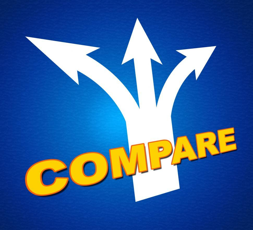 Download Free Stock HD Photo of Compare Arrows Shows Side By Side And Differentiate Online