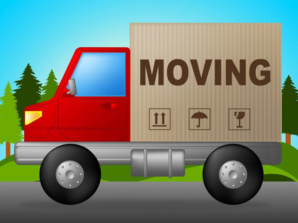 Download Free Stock HD Photo of Moving Truck Means Change Of Address And Lorry Online