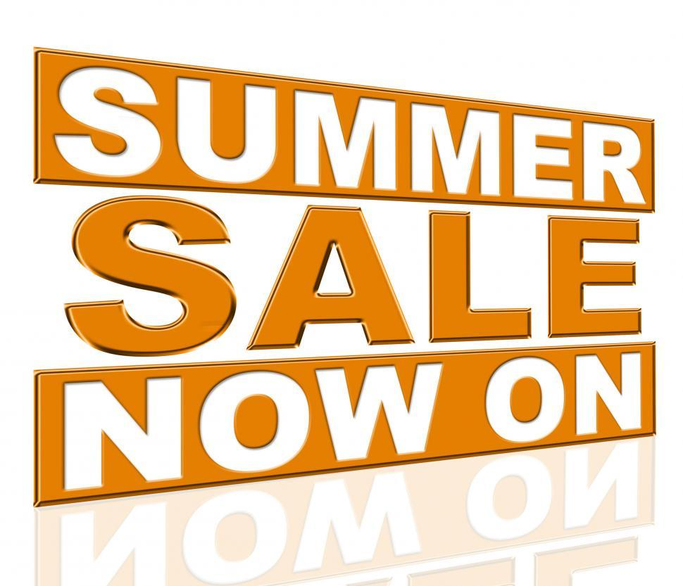 Download Free Stock HD Photo of Summer Sale Means At The Moment And Cheap Online