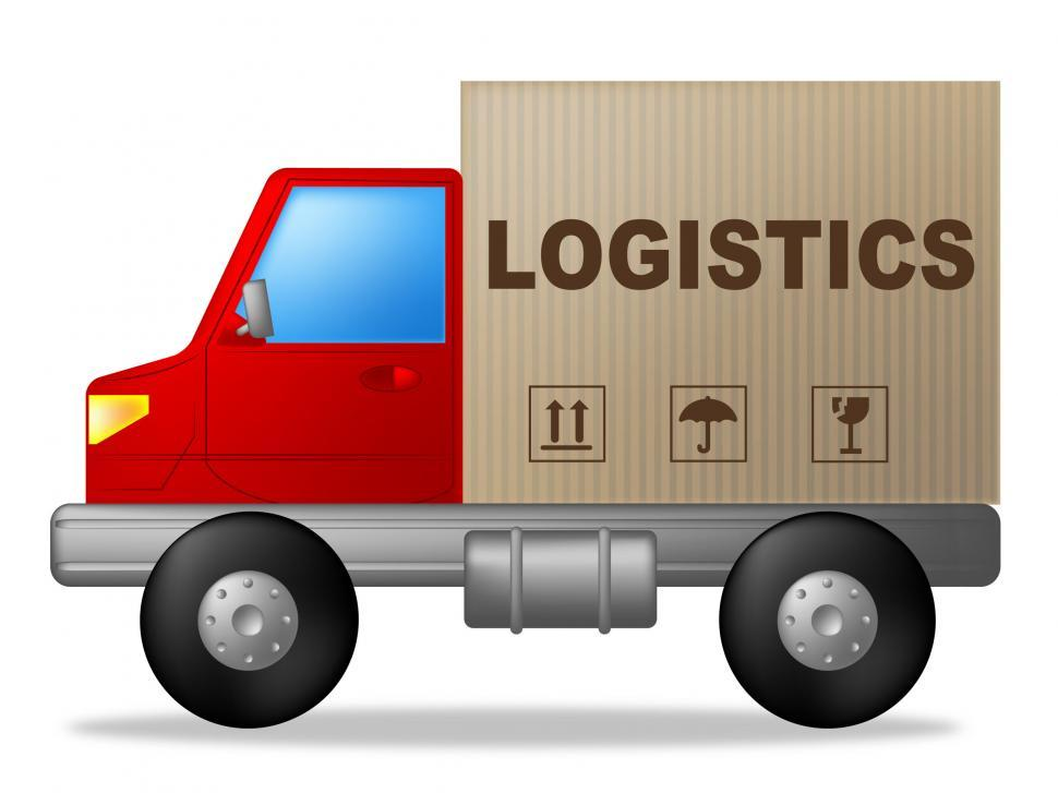 Download Free Stock Photo of Logistics Truck Shows Strategies Logistical And Transporting