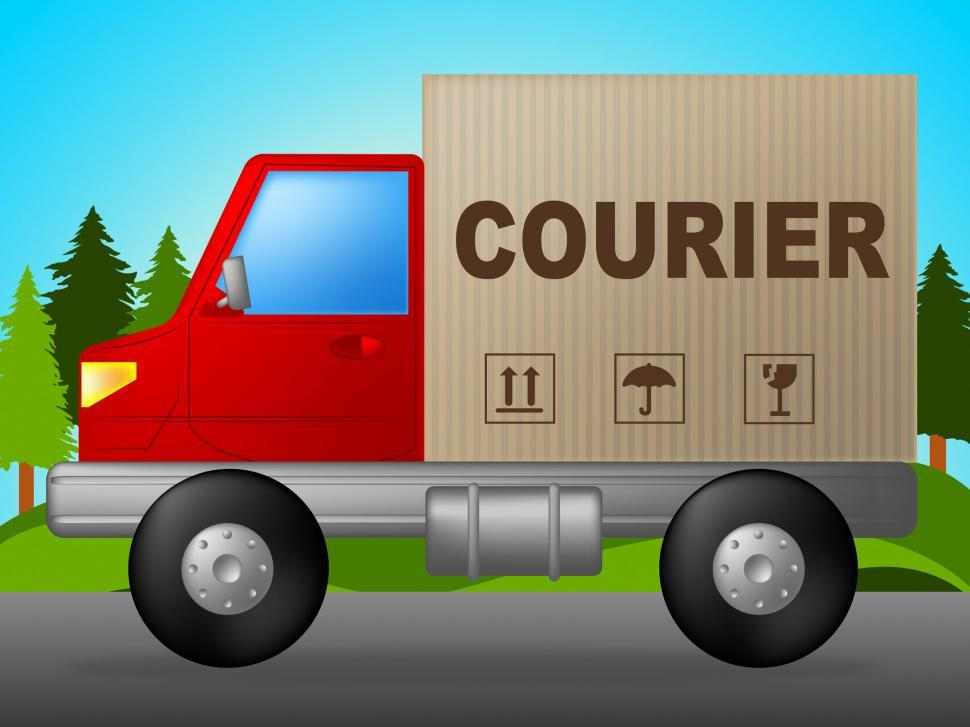 Download Free Stock HD Photo of Courier Truck Indicates Lorry Postage And Parcel Online