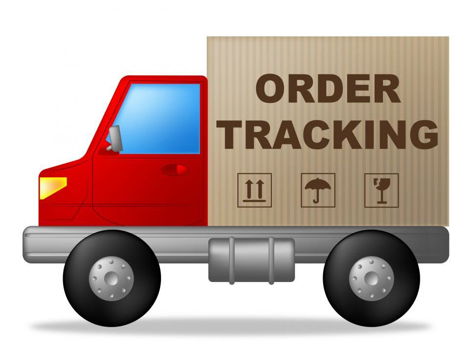Download Free Stock Photo of Order Tracking Shows Courier Traceable And Post