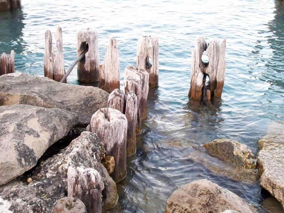 Download Free Stock Photo of Lake Michigan Shoreline