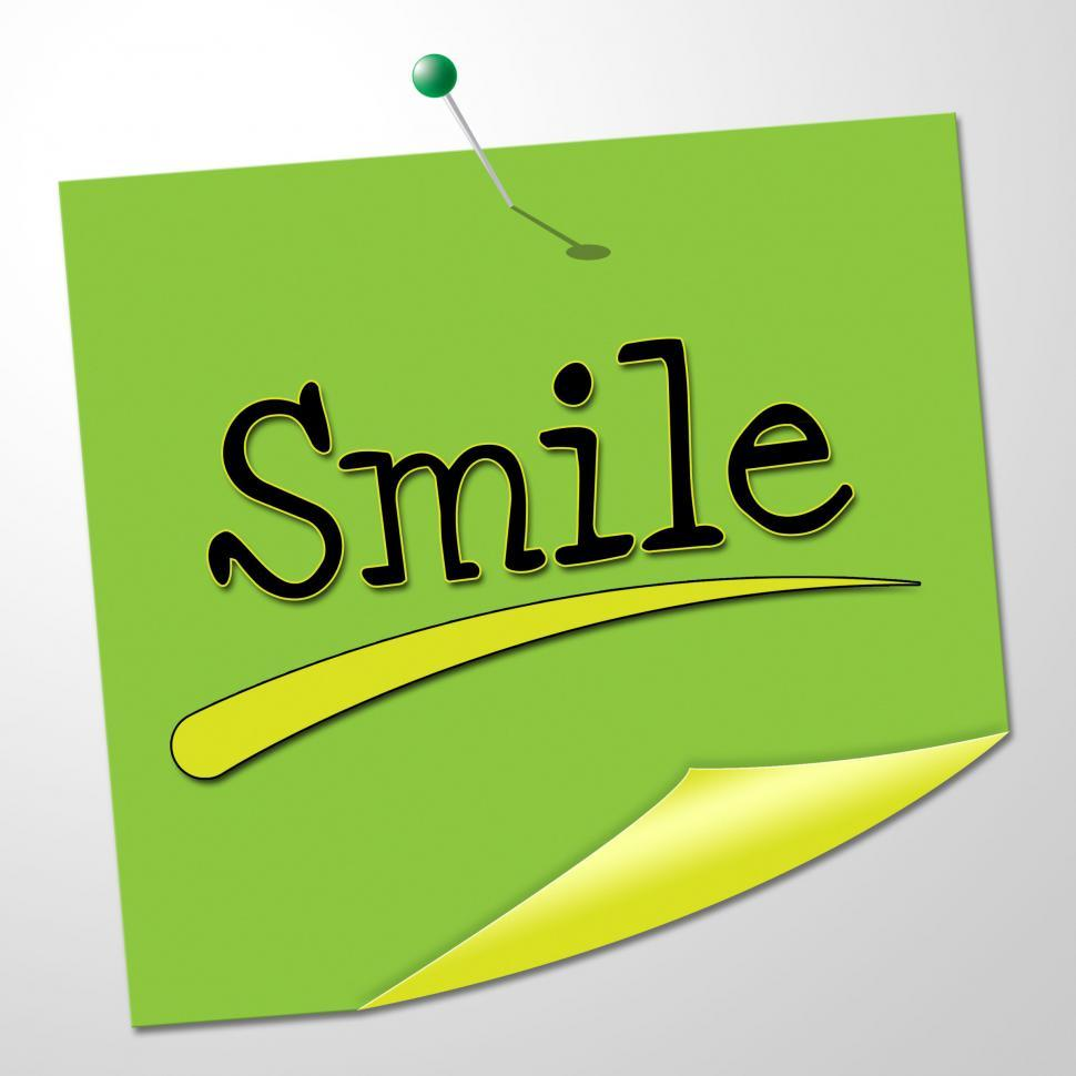 Download Free Stock HD Photo of Smile Note Shows Happy Optimism And Correspondence Online