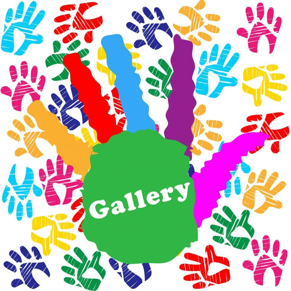 Download Free Stock Photo of Kids Gallery Indicates Colourful Color And Children