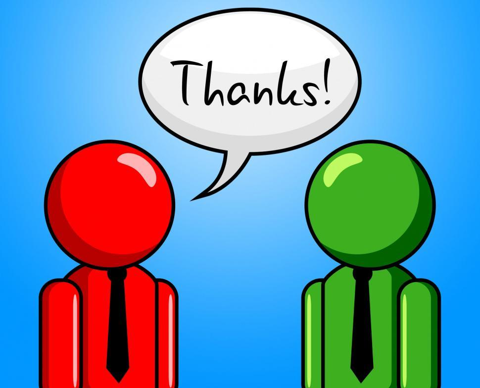 Download Free Stock Photo of Thanks Conversation Represents Chit Chat And Chinwag