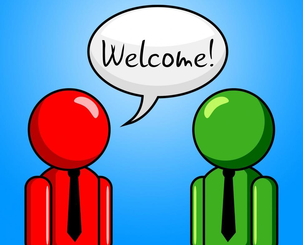 Download Free Stock Photo of Welcome Conversation Indicates Chit Chat And Arrival