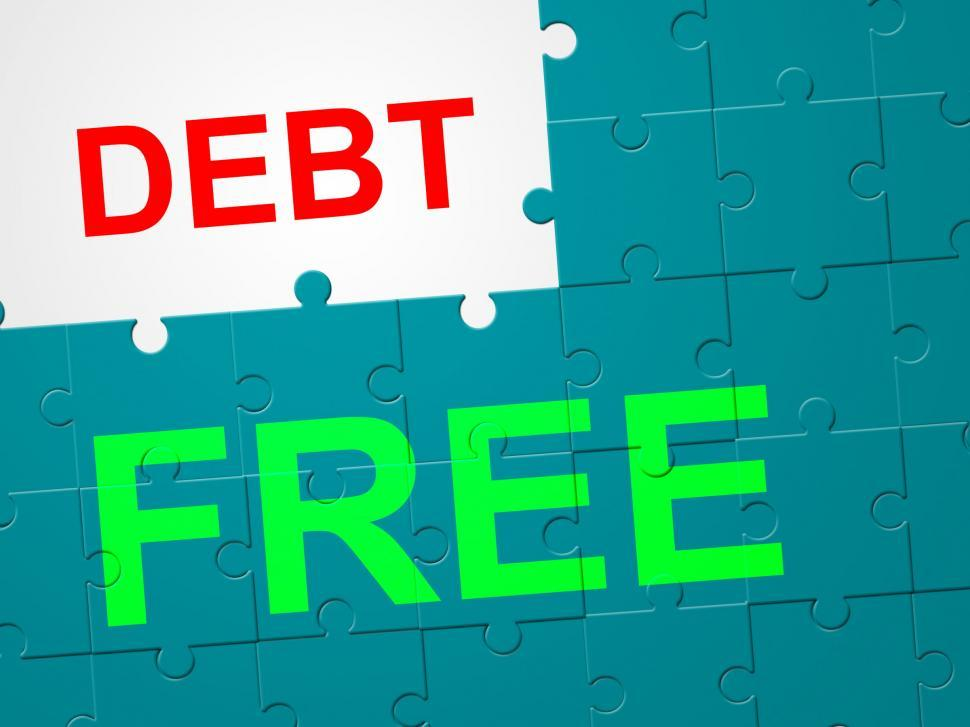 Download Free Stock Photo of Debt Free Means Debit Card And Arrears