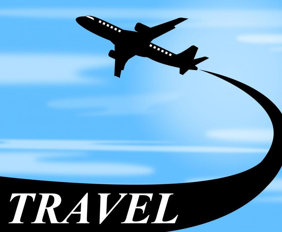 Download Free Stock HD Photo of Travel Plane Means Touring Journey And Voyage Online