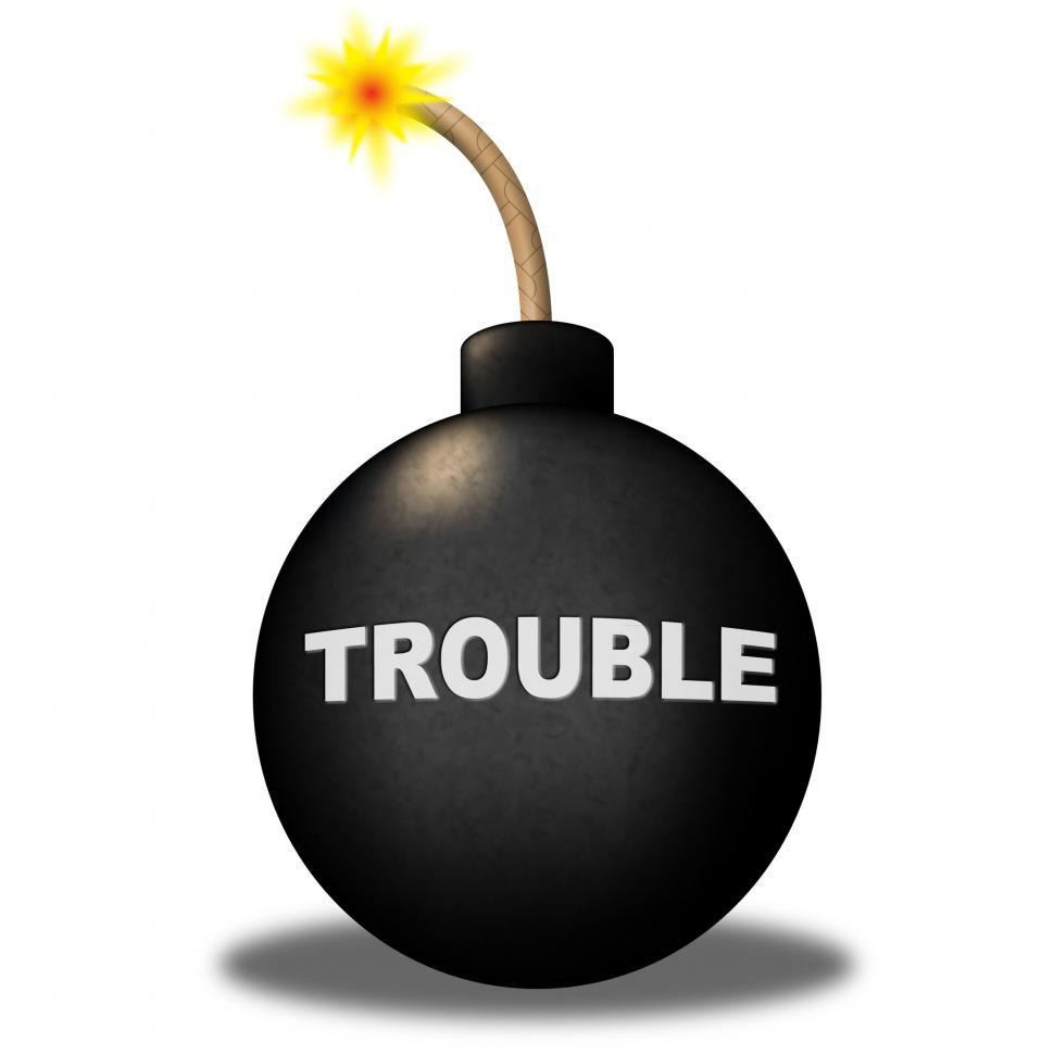 Download Free Stock HD Photo of Trouble Alert Means Stumbling Block And Advisory Online