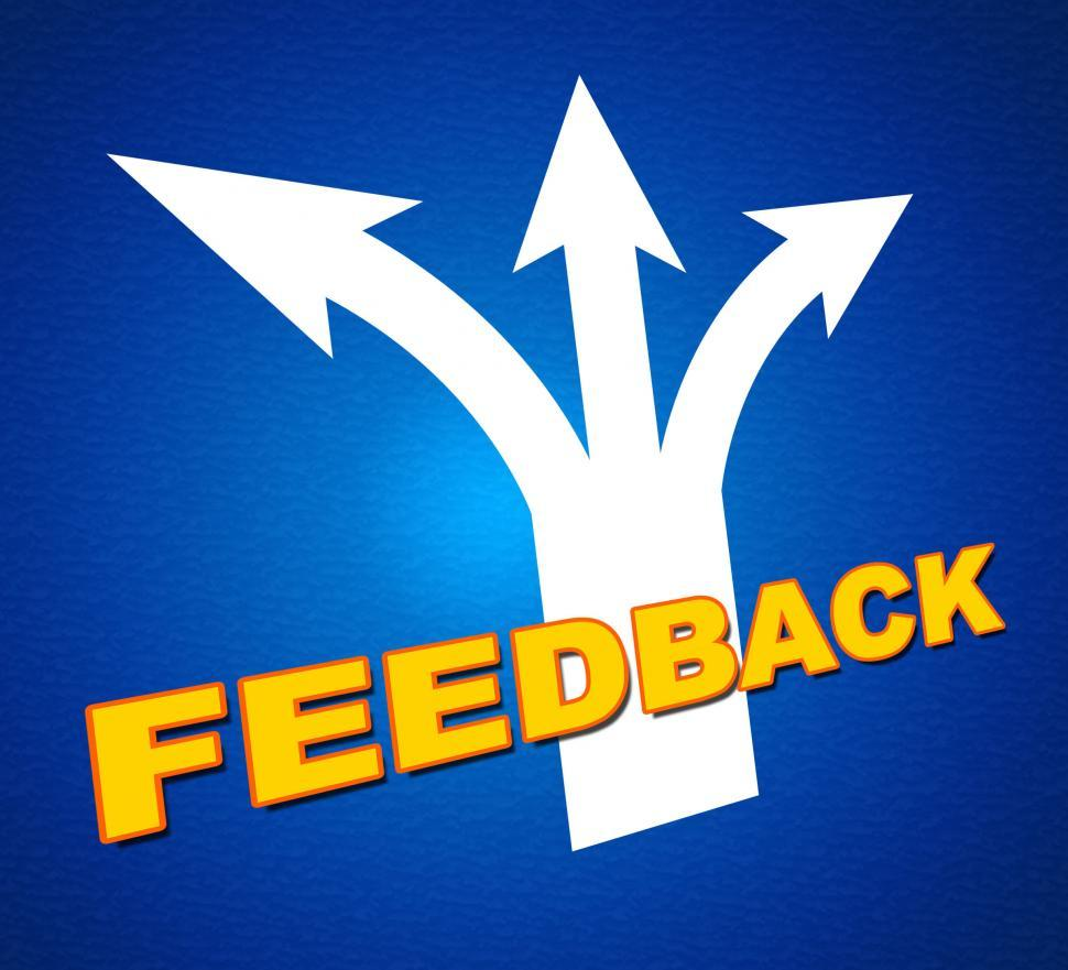 Download Free Stock HD Photo of Feedback Arrows Shows Evaluate Reflection And Rating Online